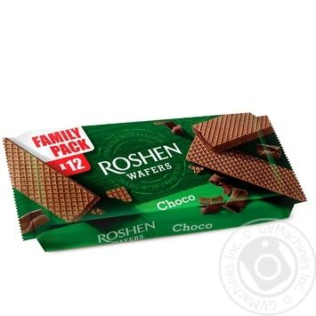 Roshen chocolate waffles 216g - buy, prices for Novus - image 1