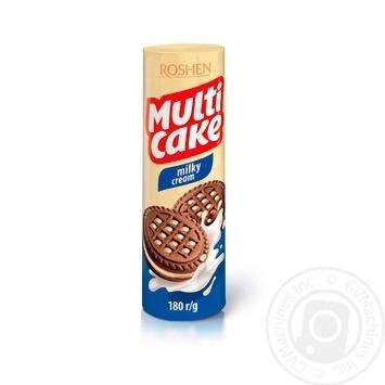 Печенье Roshen Мулти-кейк с молочно-кремовой начинкой 180г
