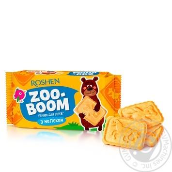 Печенье Roshen Zoo-boom с молоком для детей 68г - купить, цены на Фуршет - фото 1