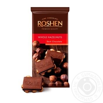 Roshen Classic Extra-Dark Whole Hazelnuts Chocolate - buy, prices for Auchan - image 1