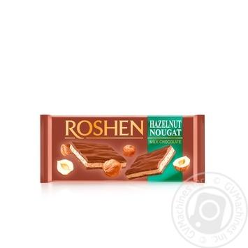Roshen hazelnut nougat milk chocolate 90g
