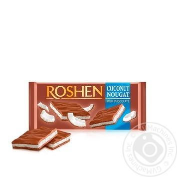 Roshen coconut nougat milk chocolate 90g - buy, prices for Novus - image 1