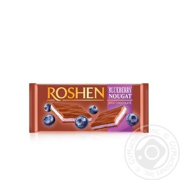 Шоколад Рошен молочний нуга чорниця 90г - купити, ціни на Novus - фото 1