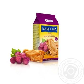 Roshen Karolina with grape and vanilla cookies 225g - buy, prices for Novus - image 1