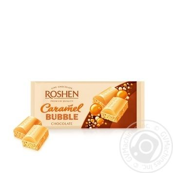 Roshen with caramel air white chocolate 80g - buy, prices for Furshet - image 2