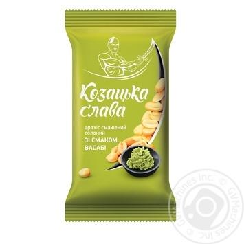 Арахіс Козацька слава смажений солоний зі смаком васабі 60г - купити, ціни на МегаМаркет - фото 1
