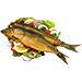 Приготовленная рыба и морепродукты