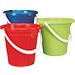 Buckets and plastic wash basins