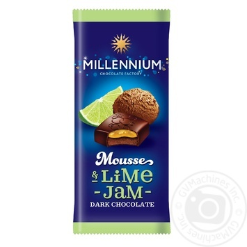 Millennium Mousse Dark chocolate with lime jam an mousse filling 135g