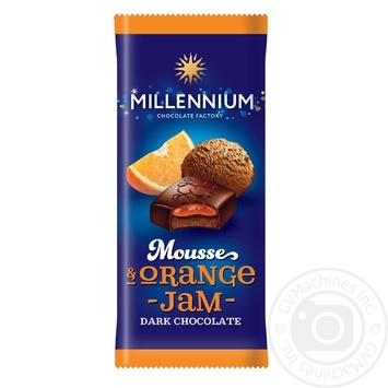 Millennium with mousse and orange filling dark chocolate 135g - buy, prices for Furshet - image 1