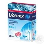 Таблетки для посудомоечной машины Vortex 60шт