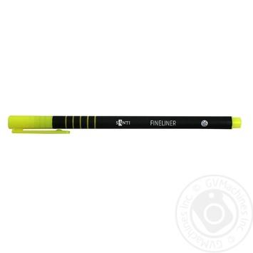 Файнлайнер Santi кольоровий універсальний 0,4мм - купити, ціни на Ашан - фото 1