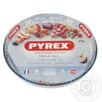 Форма для запекания Pyrex Flan круглая стеклянная 30см