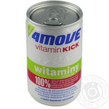 Напій безалкогольний негазований пастеризований 4MOVE зі смаком лайму та лимону з додаванням вітамінів та мінералів 150мл з/б - купить, цены на Novus - фото 1