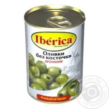 Iberica Econom pitted green olive 280g - buy, prices for Metro - image 1
