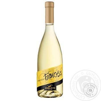 Вино Koblevo Франческа белое полусладкое 12% 0,7л
