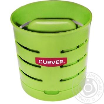 Сушарка для столових приладів двухкамерна зелена chef@home Curver - купить, цены на Novus - фото 1