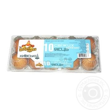 Яйця Від доброї курки Київські першої категорії 10шт - купити, ціни на CітіМаркет - фото 2