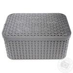 Сurver Style Basket With Lid 28х19х13cm