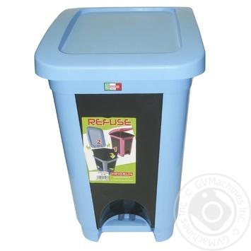 Відро Heidrun Refuse для сміття з кришкою та педаллю 30л кольори в асортименті - купити, ціни на МегаМаркет - фото 2