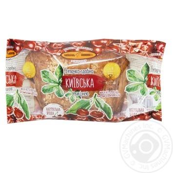 Kyivkhlib Kyivska with cherry bun 100g - buy, prices for MegaMarket - image 1