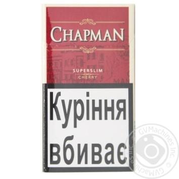 Сигарети Chapman Cherry Superslim - купити, ціни на Восторг - фото 1