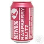 Пиво безалкогольное Brewdog Raspberry Blitz светлое нефильтрованное 0% 0,330мл
