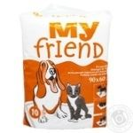 My Friend Absorbent Animal Diapers 10pcs 90х60cm - buy, prices for CityMarket - photo 1