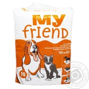 Пеленки для животных My Friend поглощающие 10шт 90х60см - купить, цены на СитиМаркет - фото 1