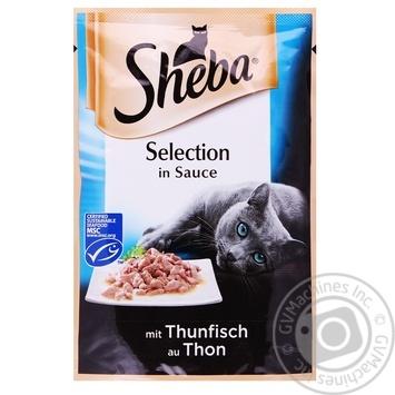 Корм Sheba Selection для котів з тунцем в соусі 85г - купити, ціни на Novus - фото 1