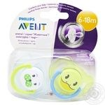 Soother Avent for children from 6 months 2pcs