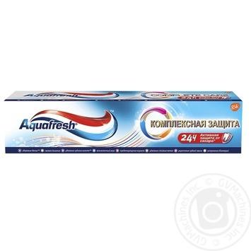 Зубная паста Aquafresh Комплексная ежедневная защита 100мл - купить, цены на Фуршет - фото 1