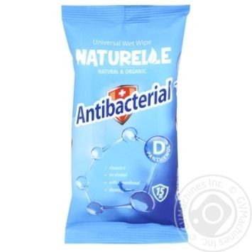 Салфетки влажные Naturelle Antibacterial с D-пантенолом 15шт.