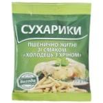 Сухарики Выгода Холодец с хреном пшенично-ржаные 70г
