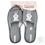 Обувь домашняя женская Twins Gray Rabbit велюр р.38/39