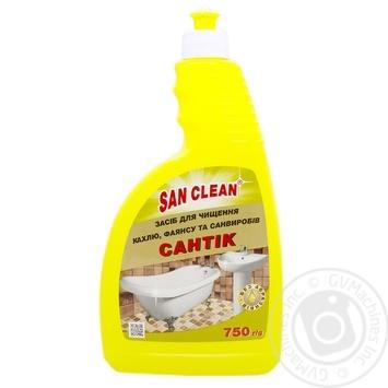 Средство для мытья San Clean Сантик с дозатором 750г - купить, цены на Ашан - фото 2