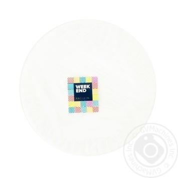 Тарелка бумажная Weekend 25шт*23см - купить, цены на Novus - фото 1