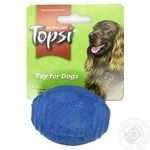 Іграшка для тварин Topsi М'яч регбі для закусок гума 107