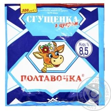 Продукт сгущенный Полтавочка с растительным жиром и сахаром 8.5% 500г - купить, цены на Таврия В - фото 1
