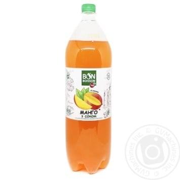 Напиток сильногазированный Бон Буассон Манго с соком 2л - купить, цены на Novus - фото 1