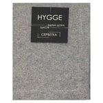 Салфетка Hygge Black черная хлопковая 35х45см