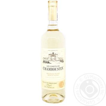 Вино Chamboustin белое полусладкое 11% 0,75л