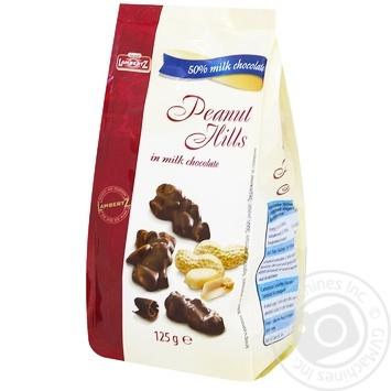 Конфеты Lambertz с кусочками арахиса в молочном шоколаде 125г