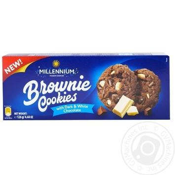Печенье Millennium Брауни белый шоколад 126г - купить, цены на Метро - фото 1
