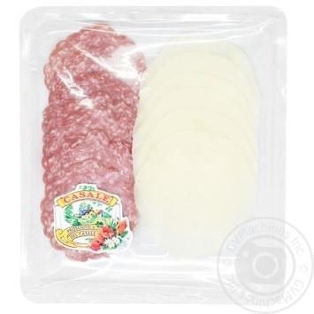 Закуска Casale колбаса сыровяленая салями сыр Проволоне нарезка слайсами 100г