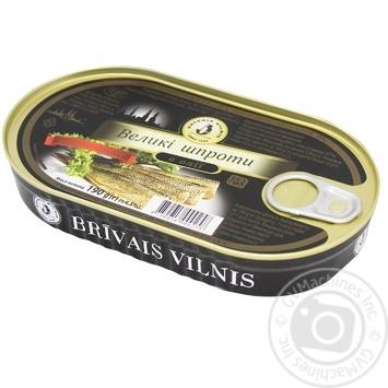 Шпроты Бривайс Вильнис большие в масле 190г