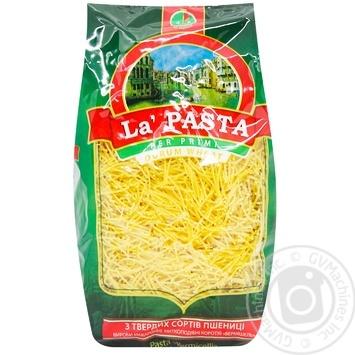 Макаронні вироби La Pasta вермішель 400г - купити, ціни на Метро - фото 1