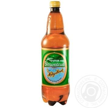 Пиво Бердичевское Жигулевское живое светлое 3.7%об. 1л - купить, цены на Novus - фото 1