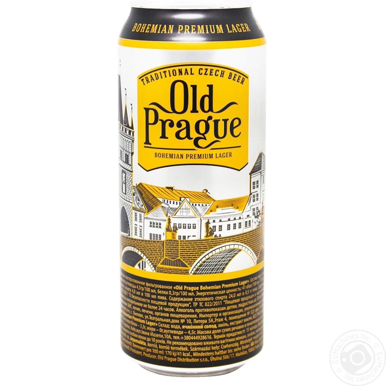 Пиво Old Prague светлое 4,8% 0,5л