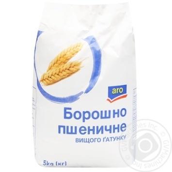 Мука Aro пшеничная высшего сорта 5кг - купить, цены на Метро - фото 1